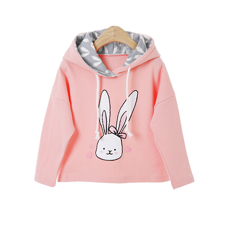 baby girl cartoon rabbit printed hoodies sweatshirt children clothing (20)