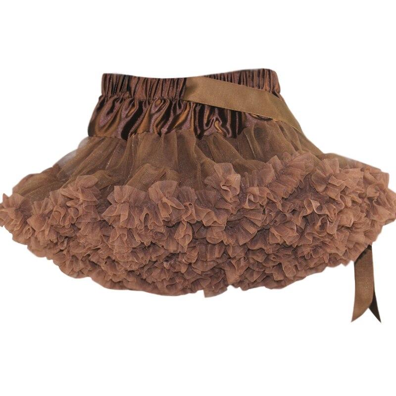 Юбка-американка для девочек; праздничная одежда на Хэллоуин; оранжевые юбки-пачки для маленьких девочек; пышная юбка-пачка для девочек; Одежда для девочек - Цвет: Коричневый