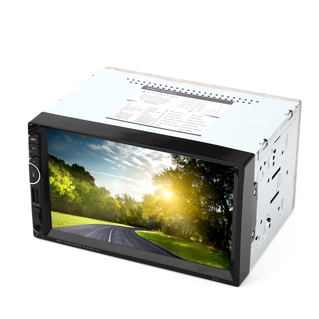 """Universal 8001 12V Car Video Player Auto Audio Stereo 7"""" 2Din Car DVD Player USB FM Bluetooth Rear View Camera Available"""
