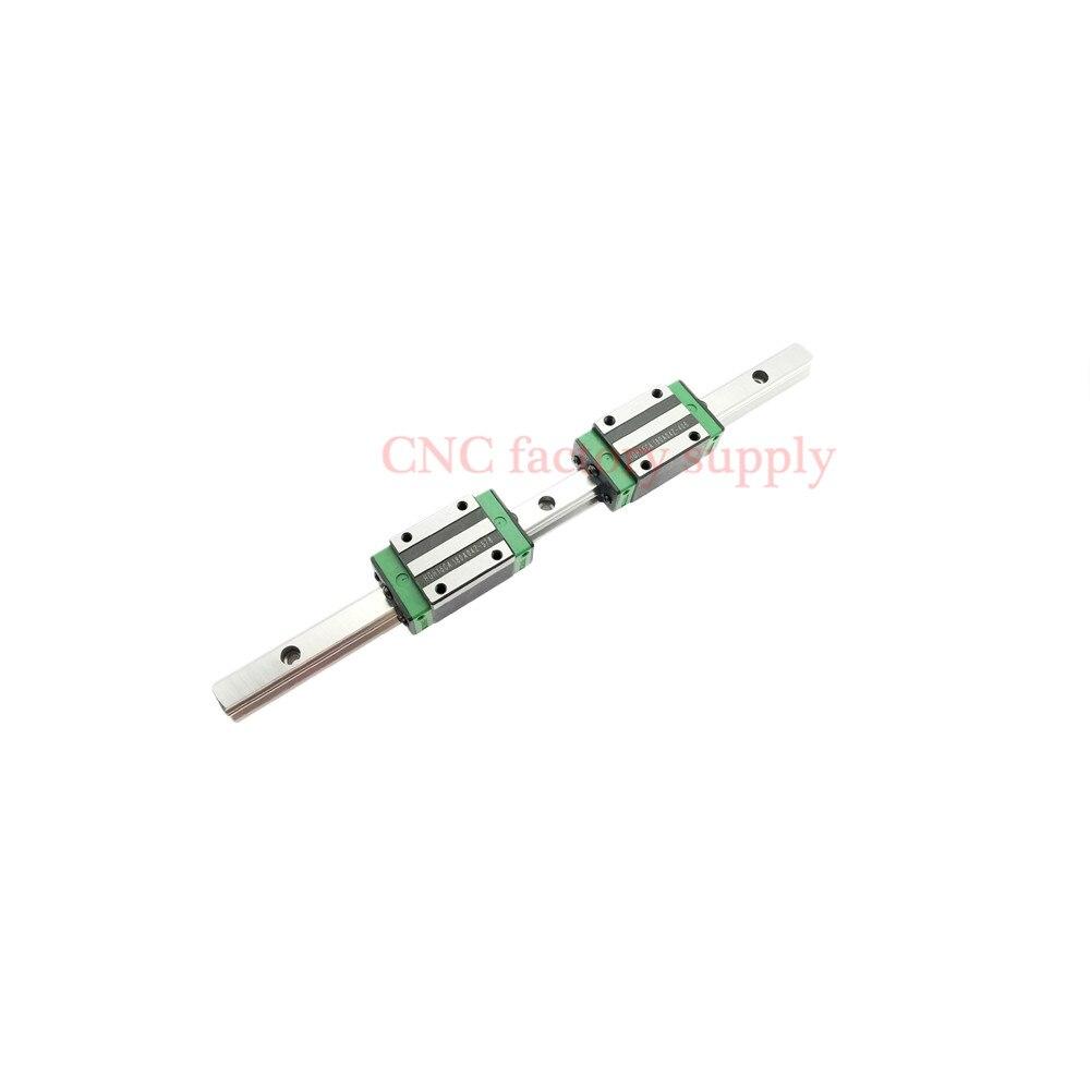 3D imprimer pièces CNC machine linéaire rail slide 1 pc HGR20-L-100mm + 2 pcs HGH20HA transport