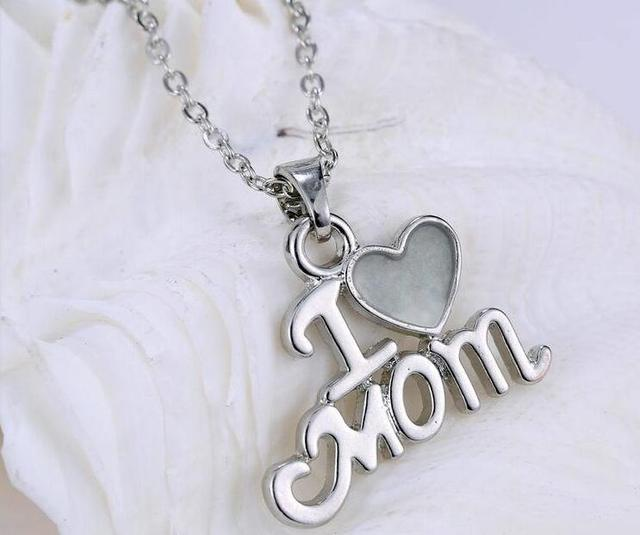 Mothers Day Gift Ideas Luminous Paragraph L Love You Mom Necklace