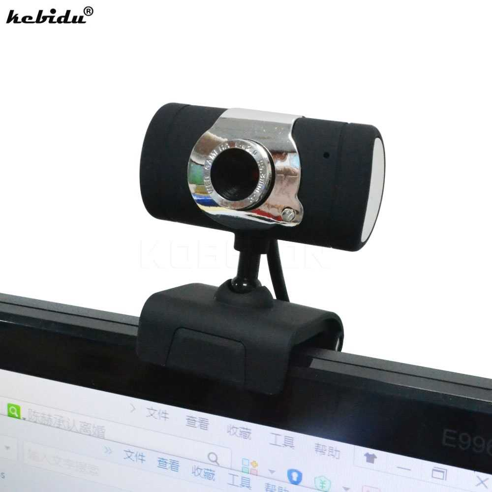 Kebidu Новый USB 2,0 30 мегапиксельная веб-камера HD камера Веб-камера с микрофоном Микрофон черный цвет для компьютера ПК ноутбук