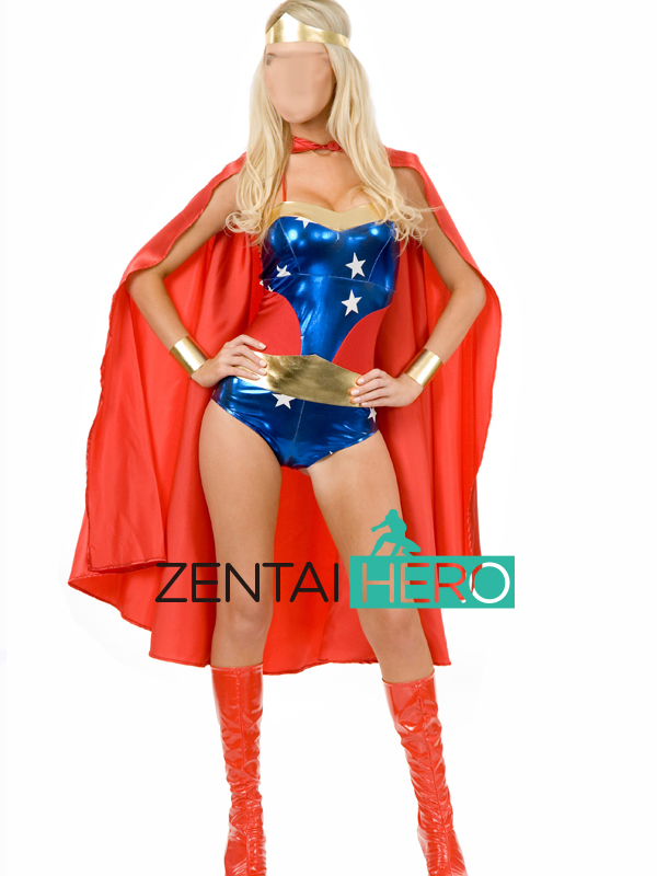 Free Shipping DHL Superhero Wonder Woman Cosplay Costume For 2016 Halloween Costume SWG1724