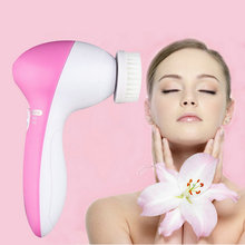 Fashion Deep Clean 5 In 1 Electric Facial Cleaner Face Skin Care Brush Massager