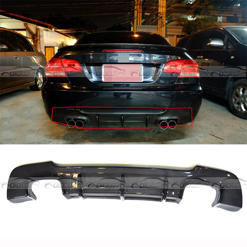 QUAD D'ÉCHAPPEMENT DD Style Car Styling Pour BMW 3 Série E92 M Sport mt m-tech Diffuseur En Fiber De Carbone pare-chocs arrière Lip
