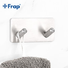 Frap High Quality 2 Hooks Robe Hook Bathroom Towel Wall Hooks Kitchen Stainless Steel Hat Bag Hanger Holder Clothes Hook Y19004(China)