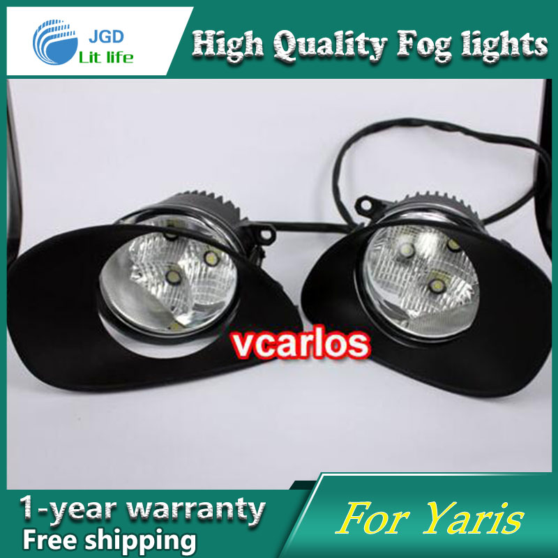 2PCS / Pair LED Fog Light For Toyota Yaris 2006-2008 High Power LED Fog Lamp Auto DRL Lighting Led Headlamp 2pcs pair led fog light for toyota corolla axio 2007 high power led fog lamp auto drl lighting led headlamp