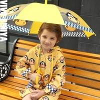 ילדי hoody חיצוני סט חתיכה אחת ילדות בעלי החיים דפוס מעיל גשם בגדי גשם הוכחת רוח שמש 90-120 ס