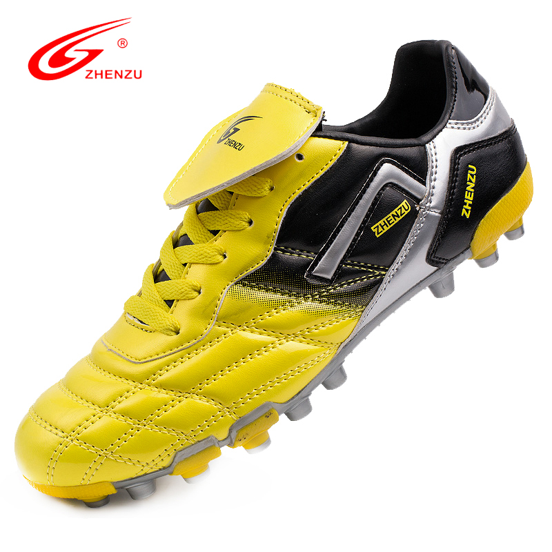 ZHENZU Men Football Shoes AG Soccer Shoes Artificial Ground Futsal Boots Athletic Trainers Botas De Futbol , Size 36 44
