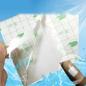 Image 4 - 100 ピース/ロット医療透明テープ PU フィルム絆創膏防水抗アレルギー薬用創傷被覆材固定テープ
