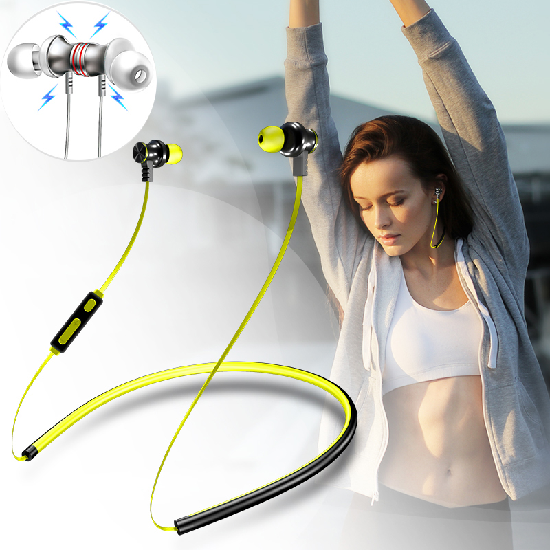 I7 Neckband Bluetooth Headphone wireless earbud earphone universal for iphone samsung xiaomi huawei meizu sony xiami Headset Mp3 remax t9 mini wireless bluetooth 4 1 earphone handsfree headset for iphone 7 samsung mobile phone driving car answer calls