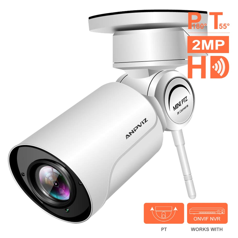 Anpviz 1080P Video Surveillance Wireless IP Camera Outdoor 2 8 12mm 4X Zoom WiFi PTZ Camera