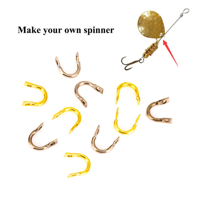50 small GOLD PLATED Hammered Colorado Spinner Bait Blades Size 1 MAKE YOUR BAIT