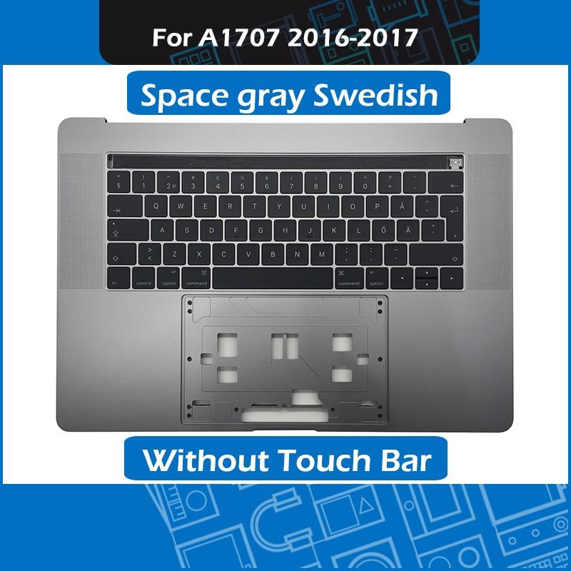 Space gray ноутбук подставкой для Macbook Pro retina 15 Touch Bar A1707 Топ чехол с SE шведский клавиатура на замену 2016 2017