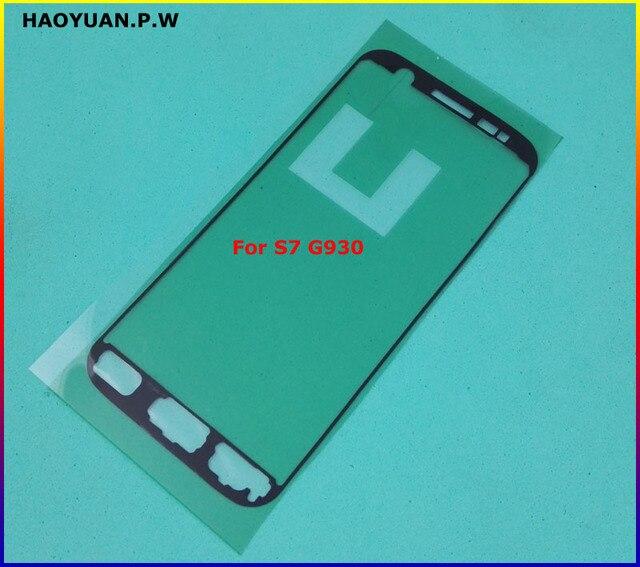 新オリジナルステッカーフロント LCD パネルフェイスプレートの粘着サムスンギャラクシー S2 S3 S4 S5 ミニ S6 エッジ S7 s7Edge テープのり