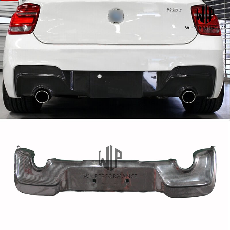 F20 High Quality Carbon Fiber Rear Lip Bumper Splitter Diffuser Car Styling For BMW 1 Series F20 M-Tech M135i Car Body Kit 12-16 image