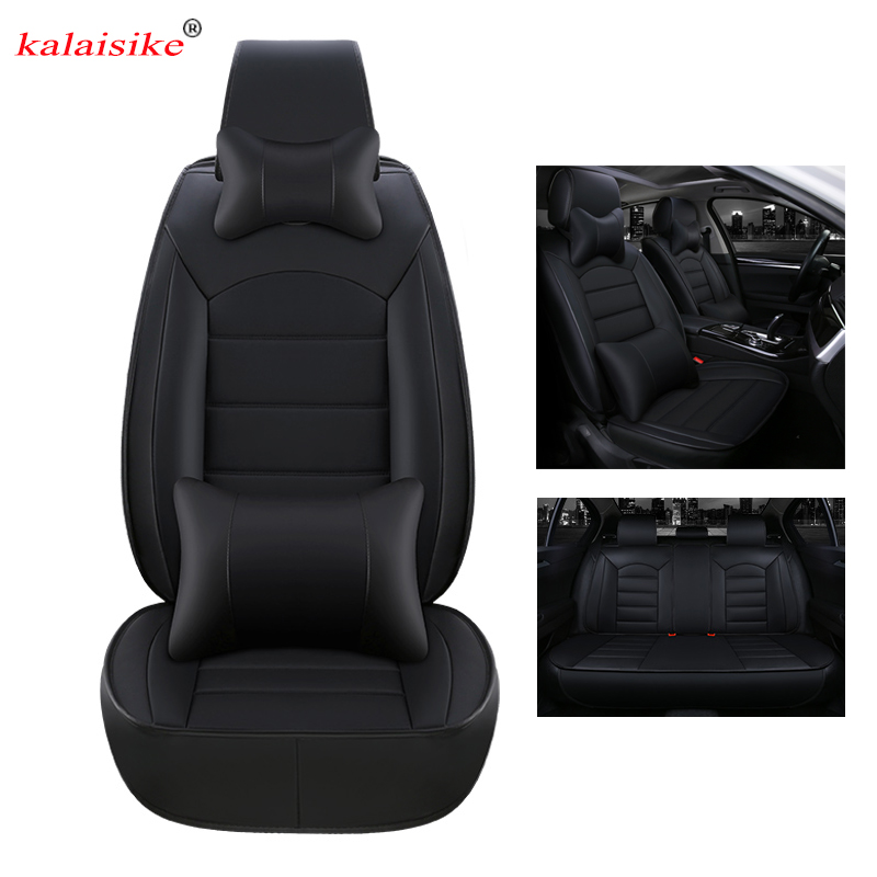 kalaisike leather universal car seat covers for Mercedes Benz all models E C ML GLK GLA CLA CLS GLE GL S A B CLK SLK G GLS class