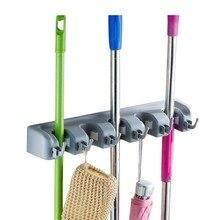 Bathroom Mop Storage Holder Multifunction Broom Cleaning Tools Hook Rack Home Accessories Supplies Gear Items Stuff