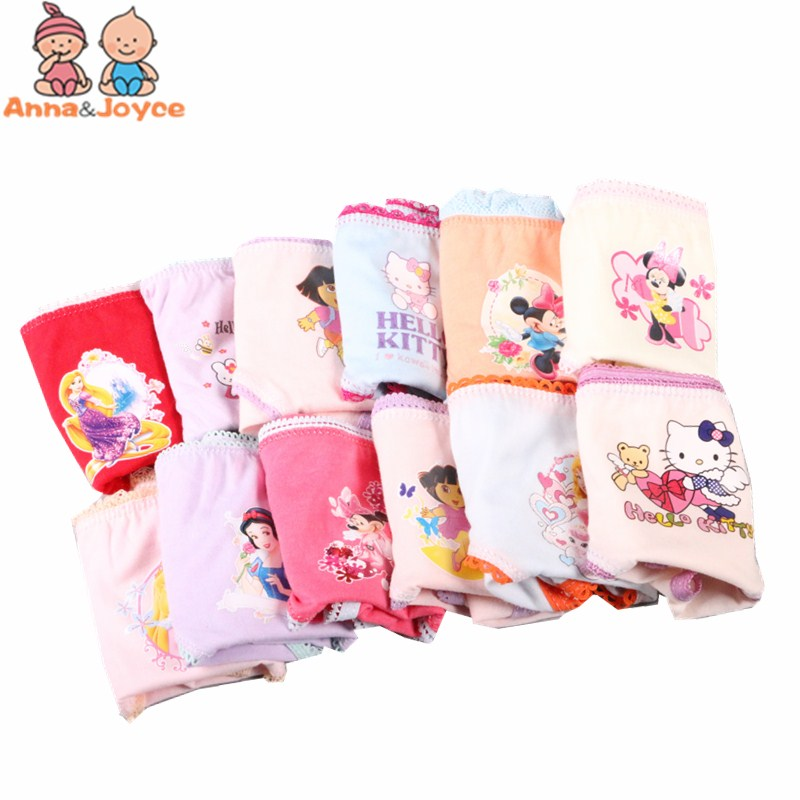 6 Pcs/pack Random Delivery girls briefs panties underwear Character Girls Underwear Cotton Pinkycolor Panties ATNN0066 pack of 5 womens sexy stretch brief thong panties underwear