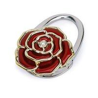 10 stücke (ASDS Faltung Handtasche/Geldbeutel/Tasche Aufhänger Haken Hang Halter Rose Blume Form