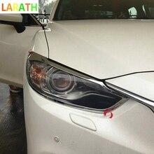 Для Mazda 6 Atenza 2013 3-го поколения ABS хромированные, для передних фар ободок для фары планки авто аксессуары 2 шт./компл