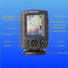 Phiradar FF688C 3.5″ Color LCD Boat Fish Finder 200KHz/83KHz Dual Sonar Frequency 300M Depth Detection Muti-language Auto zoom
