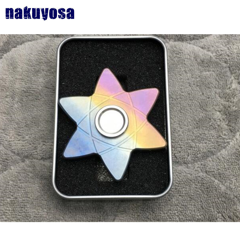 every day carry star Titanium alloy TC4 Bearing R188 Tri Spinner Fidget Toy EDC Hand Spinner