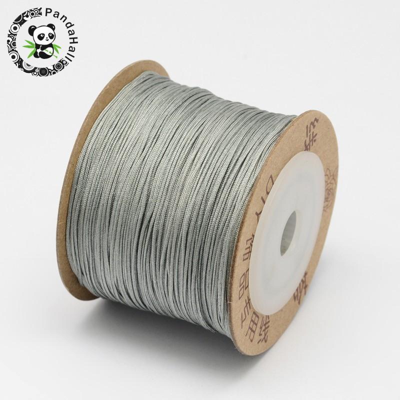 0.8 мм 100 м/roll нейлон ювелирных изделий DIY Шнур темы серебро