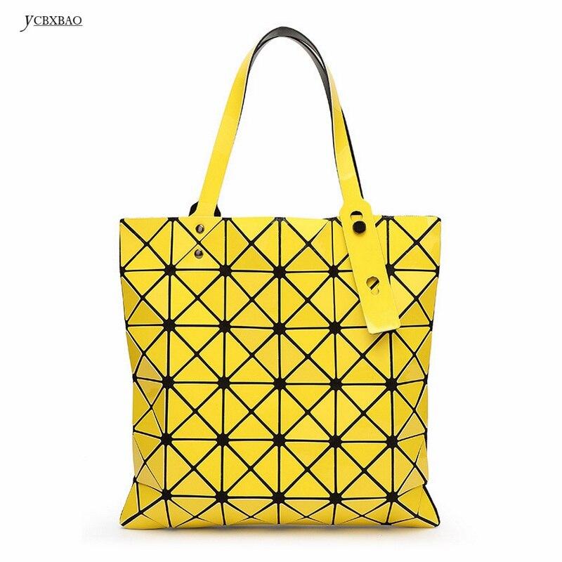 Новый Для женщин мода Лазерная BAOBAO сумка Геометрия посылка пайетки Saser обычный складной Сумки портфель сумки на плечо Для женщин сумка