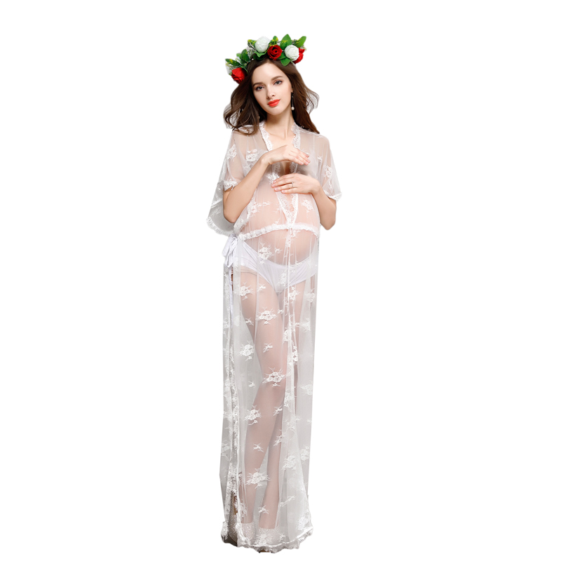 Fashion Pregnancy Maternity Photo Shoot Long Dress Nightdress Fancy Pregnant Photography Props Maternity Lace Dress RQ096 стоимость