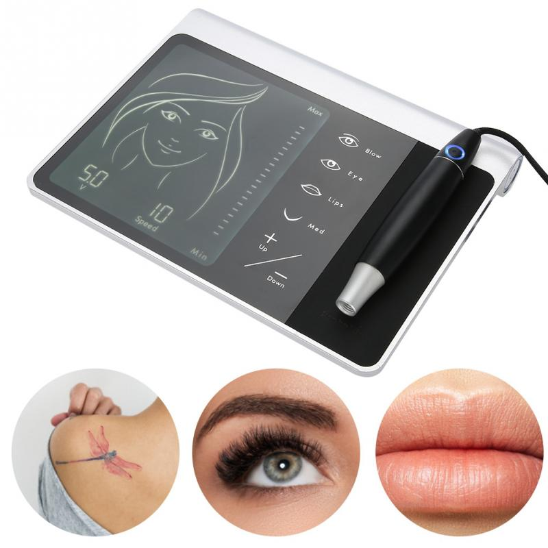 Multifunctional Tattoo Pen Machine Kit Lip Eyebrow Microblading Permanent Makeup Beauty Device Tattoo Pen Gun Control Kit недорго, оригинальная цена