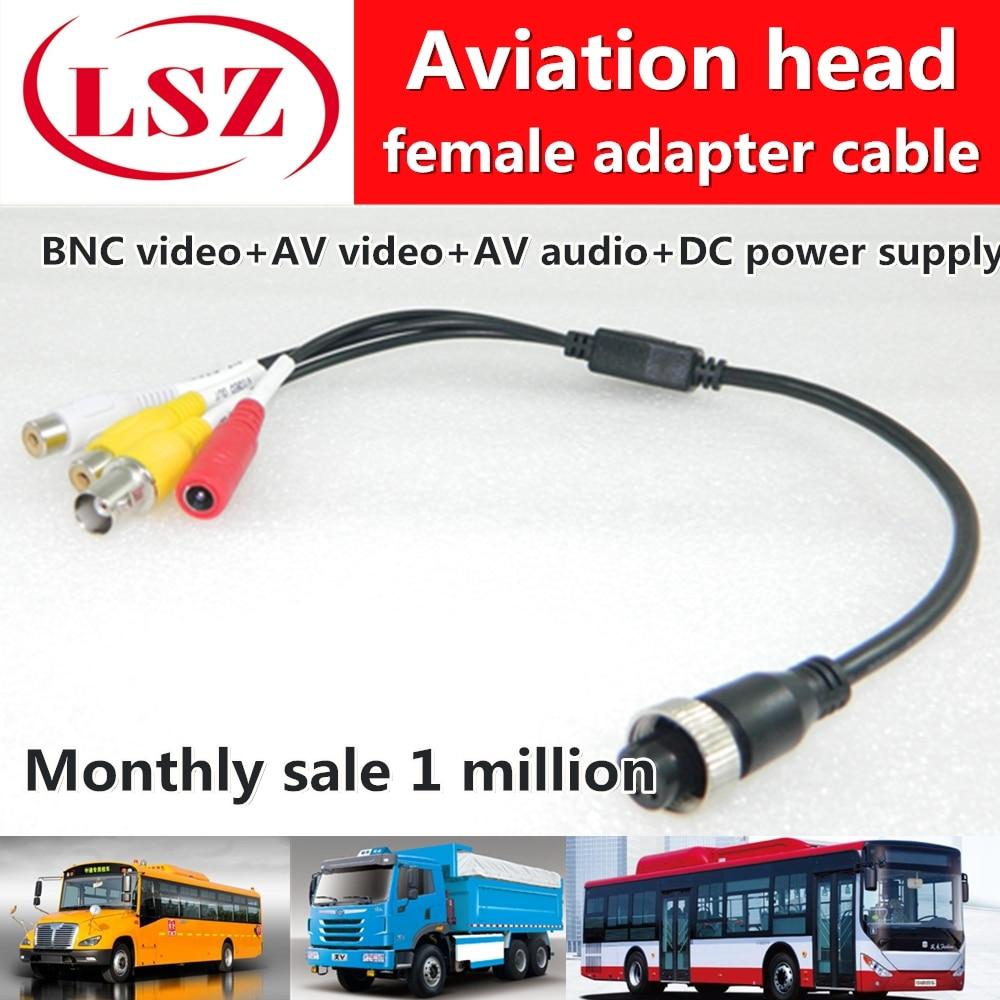 Road pl spot wholesale aviation head adapter turn AV/DC/BNC Mobile dvr video cable 95 850 160m150 rf cable assemblies hd bnc sr pl hd bnc sr pl mr li