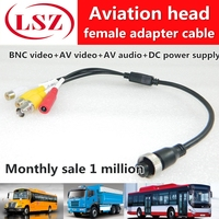 Road pl spot wholesale aviation head adapter turn AV/DC/BNC Mobile dvr video cable