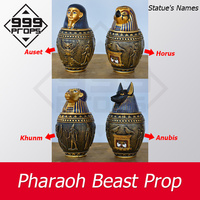 999PROPS Pharaoh beast prop room takagism escape game puzzle put Egypt pyramid statues in right place to open lock