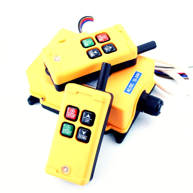 HS-4  Remote Switch 2 transmitter+1 receiver  Speed Control Hoist industrial wireless Crane Radio Remote Switch Control System 1pcs hs 4 ac110v 4 keys control industrial remote controller 2 transmitter 1 receiver
