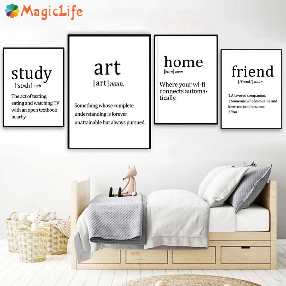 Modern Home Decor Wall Art Canvas Painting Poster Wall Pictures For Living Room Art Prints Study Friend Unframed in Painting Calligraphy from Home Garden
