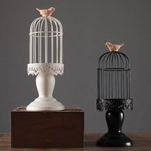 Cage à Oiseaux Rétro Pilier Vintage Romantique Bougeoir Lan1tern Chandelier  De Mariage Bougeoir Bougies Décoration D