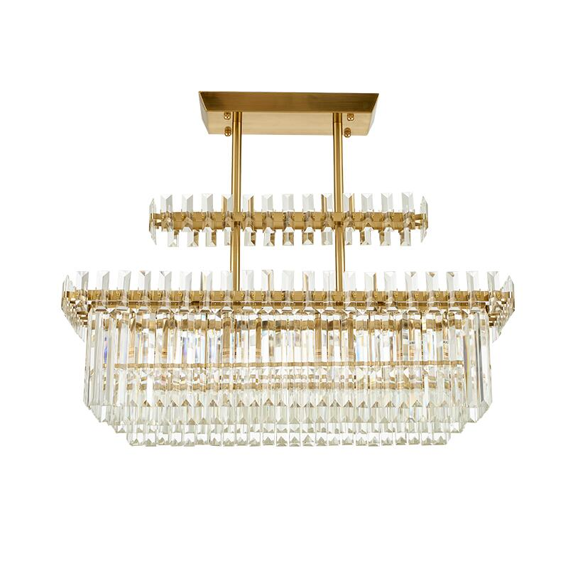 Unique Rectangular Dining Room Chandeliers: New Modern Crystal Chandelier Luxury Rectangular Dining