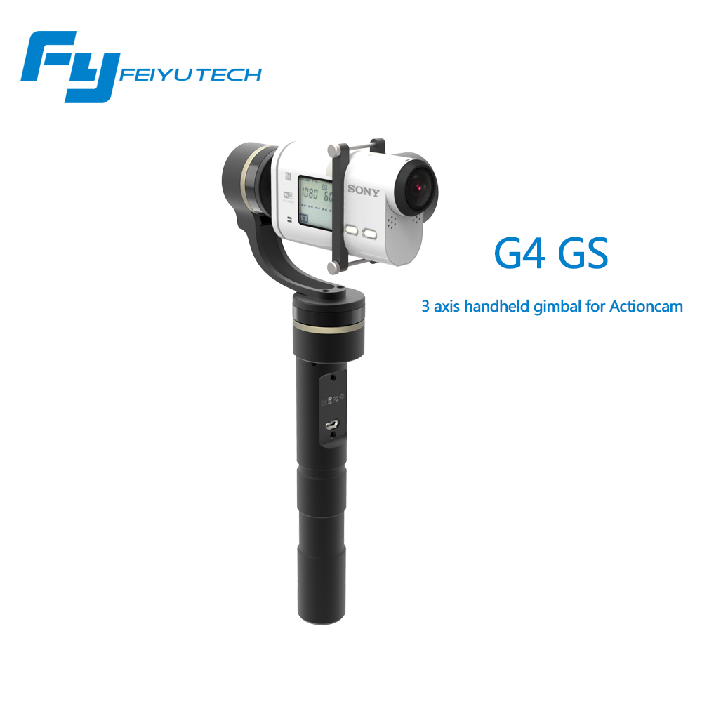 Feiyu FY G4 GS G4GS 3-Axis Handheld Gimbal for S-ony Action Cameras for AS Series Camera HDR AS20 AS100 AS200 X1000V PK Z1 EVO free shipping feiyu tech g4 gs gimbal 3 axis brushless gimbal for sony hdr az1vr fdr x1000v as series sport auction camera