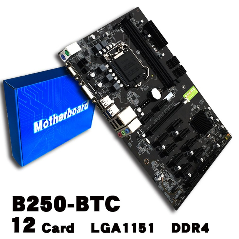 NEW Mining Board B250 Mining Expert Motherboard Video Card Interface Supports GTX1050TI 1060TI Designed For Crypto Mining B250