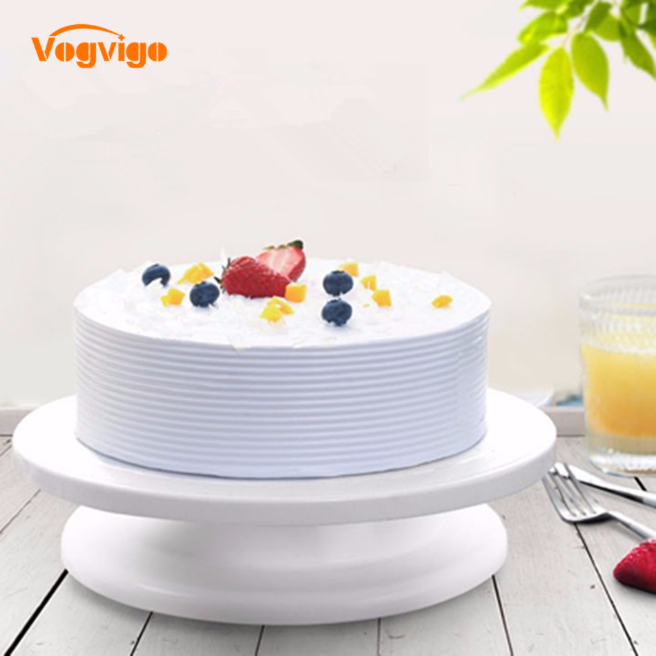 VOGVIGO Cake Decorating Tools Rotating Cake Stand Platform Cupcake Stand Cake Plate Tools Sugarcraft Turntable Decorating Stand