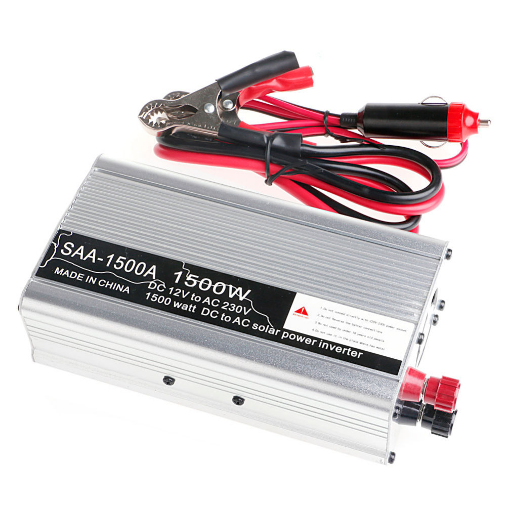 Inversor de energ/ía para autom/óvil 110V Inversor de Salida Estable DC 12V a CA 220V 3000W Inversor de energ/ía convertidor Negro DC 12V a CA 220V
