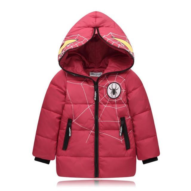 8a4274747e0e 2017 Boys Blue winter coats   Jacket kids Zipper jackets Boys thick ...