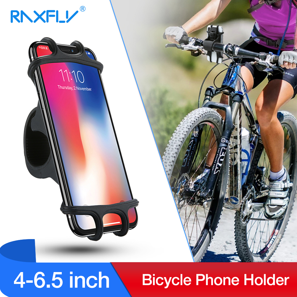 RAXFLY Phone Holder Bike For IPhone X 8 Plus XR XS Max Bracket Phone Stand Holder In Bicycle For Samsung S9 Plus Galaxy Note 8 9