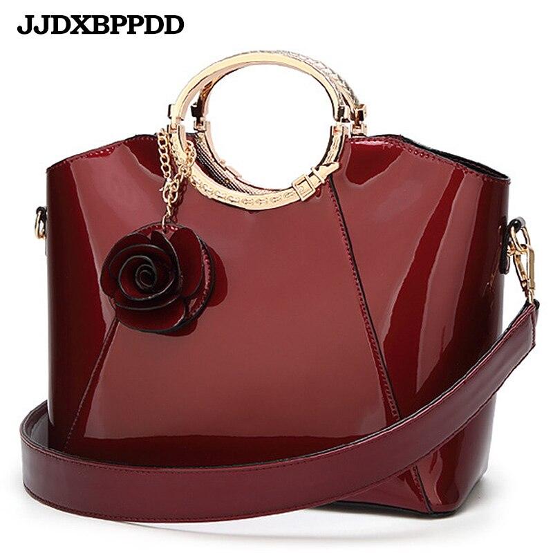 New High Quality Patent Leather Women bag Ladies Cross Body messenger Shoulder Bags Handbags Women Famous Brands bolsa|bolsa brand|handbags women famous brands|brand handbags - title=