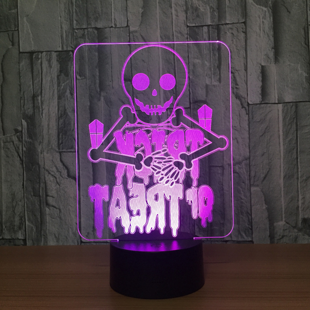 2019 Mode Halloween Gift 3d Lamp Luminaria De Mesa 3d Verlichtingsarmaturen Usb Led-nachtlampje Veilleuse Enfant Kids Bureaulamp Bright Luster