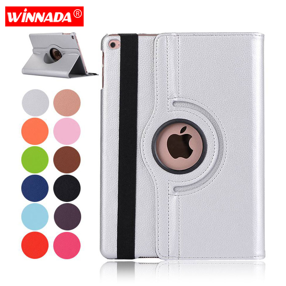 Ipad Air 2 Case, lichee korn 360 grader rotera Full Body Protective Cover Flip För Ipad Air / För iPad 2017 2018 täcka