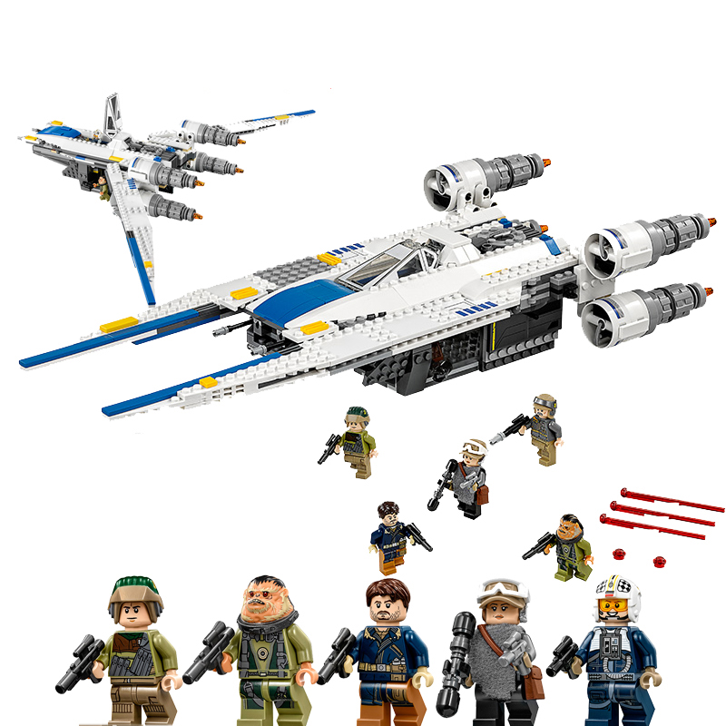 LEPIN Star Wars 05054 The Rebel U-Wing Fighter 75155 Brick Educational Toys For Children Building Block Brick Birthday Gift in stock lepin 05054 genuine ucs series the rebel u wing fighter set building blocks bricks set toys clone 75155