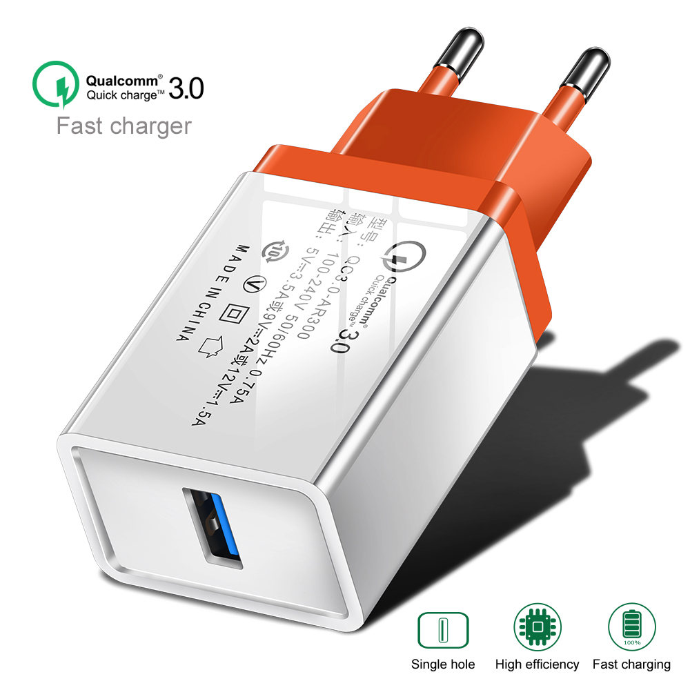 Image 5 - QC 3.0 USB Charger Quick charge 3.0 for Samsung Xiaomi Huawei Mobile Phone Charger Adapter For iphone 5 5s 6 7 8 Plus X Xs Cable-in Mobile Phone Chargers from Cellphones & Telecommunications