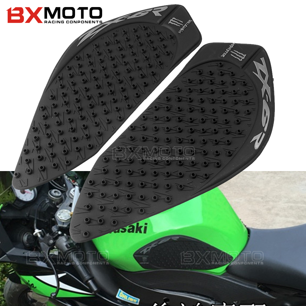 Motorcycle Tank Traction Pad Side Gas Decal Knee Grip Protector Tank Sticker Cover For Kawasaki Ninja ZX 6R ZX6R ZX636 2009-2016 scoyco motorcycle riding knee protector extreme sports knee pads bycle cycling bike racing tactal skate protective ear